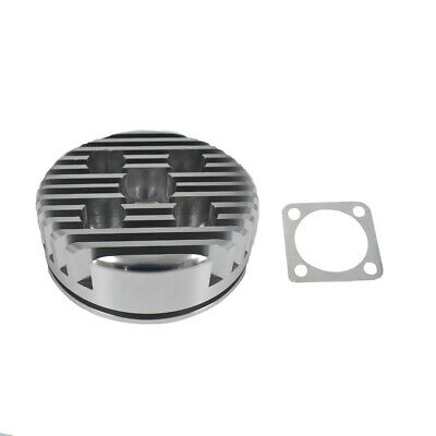 Cycle CNC Cylinder Head For 66/80cc Gas Motorized Bicycle Silver