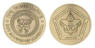 Boy Scout Collectors Die Struck Wood Badge Challenge Coin Its Your Move