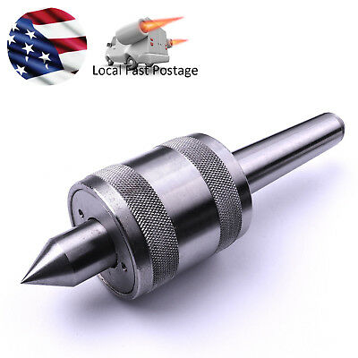 MT2 Morse Taper Live Center Carbide Bearing CNC 12-28NF Drawbar Thread Us Ship