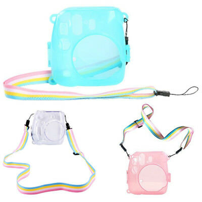 Protective Cover Clear Case Strap for Fujifilm Instax Mini 8/9 Polaroid Camera