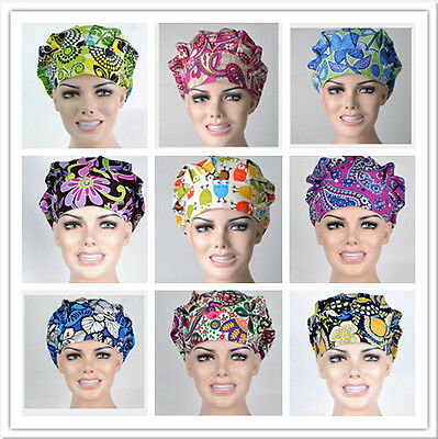 DoctorsNurses Women's Printing Scrub Bouffant Medical Surgical Surgery Hat/Cap