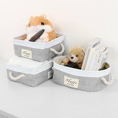 Foldable Storage Basket Bin with Handles Toy Box Organizer for Closet or Shelves
