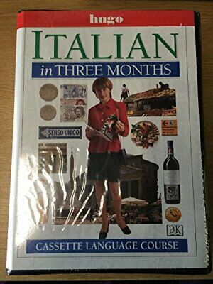 Italian in Three Months (Hugo) by Reynolds, Milena Kit Book The Cheap Fast Free
