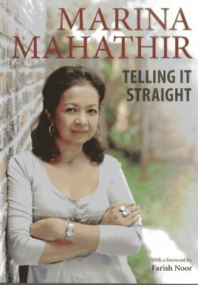 Telling It Straight by Mahathir, Marina Book The Cheap Fast Free Post