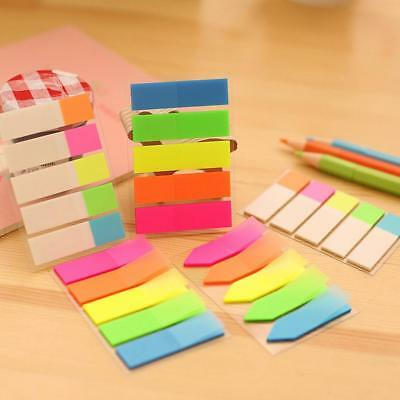3 Styles Repositionable Adhesive Sticky Note Marker Index Tab Bookmark Sticker