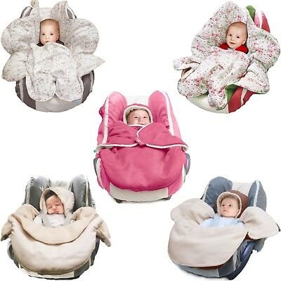 Wallaboo Baby Car Seat Blankets Pushchair Stroller Wrap Travel Hooded Newborn