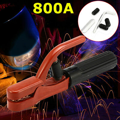 800A Electrode Holder Clamp Tong Style Welding Rod Insulated Jaw Arc Cooper Rod