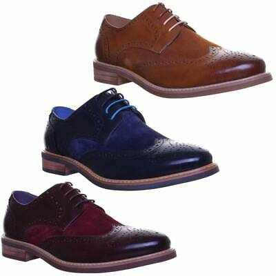 e3aa83d3513 Justin Reece Calvin Leather Suede Combination Brogue Lace up Size 6 - 12