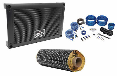 MTX XTHUNDER125.4 500 Watt RMS 4-Channel Car Stereo Amplifier+Amp Kit+Rockmat
