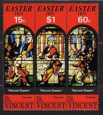 """ST. VINCENT #350-352a MNH """"THE LAST SUPPER""""  STRIP OF 3"""