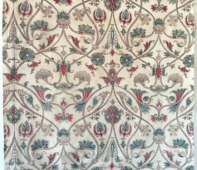 Beautiful Rare 19th C. French Exotic Paisley / Jacobean Printed Fabric  (2269)