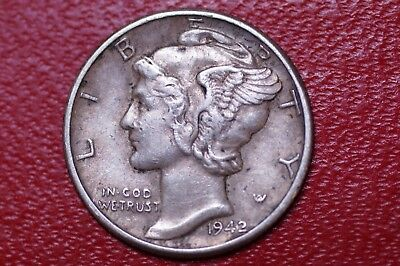 Neat Unusual Vintage 1942 Mercury Dime/ Wheat Penny Two Sided Novelty Trick Coin