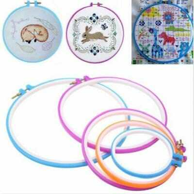 5Pcs Plastic Embroidery Hoop Ring Cross Stitch Sewing Machine Tool Ring CB