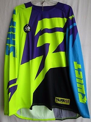 MENS adult motocross SHIFT FACTION jersey EXTRA LARGE 14531-178-XL pur/yel
