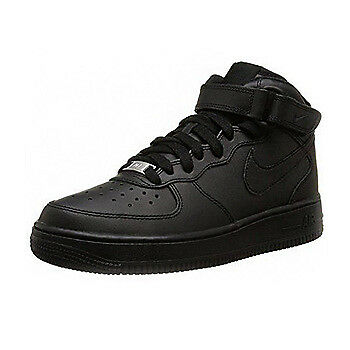 Nike Air Force 1 Mid Junior GS Black Mono Trainer Size UK 3 - 6.5 EU 35 - 40