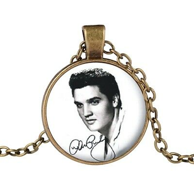 Vintage Elvis Presley Picture Pendant Necklace The King of Rock HOT Necklace