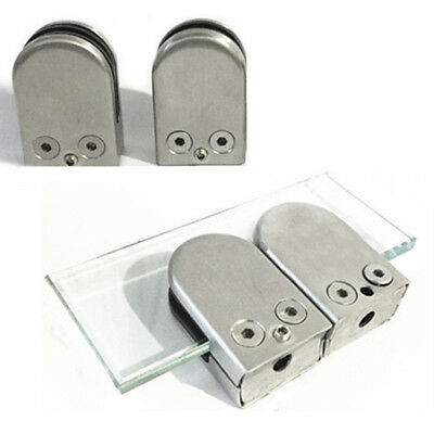 Glass Clamp Stainless Steel 201 Clip Flat Back Bracket For Balustrade 8mm Glass