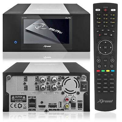 """Xtrend ET 8500 HD Linux Full HD HbbTV Receiver PVR 2xDVB-S Tuner 4,3"""" LCD"""