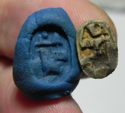 Zurqieh -As3770- Ancient Egypt , Stone Scarab Amulet. 1400 - 1300  B.c