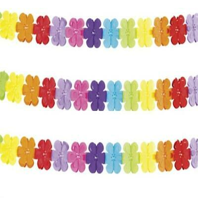 Girlande Flower Power  Papier  400 cm  bunt , Geburtstag Party Deko