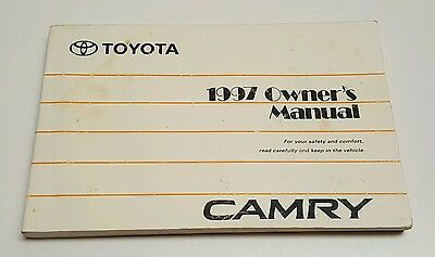 2017 toyota camry owners manual book set case le se xle xse v4 v6 rh picclick com 1997 toyota camry service manual 1997 toyota camry xle v6 owners manual