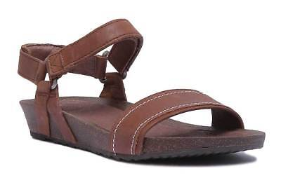 787279a3a183 TEVA YSIDRO STITCH Womens Brown Leather Matt Sandals UK Size 3 - 8 ...