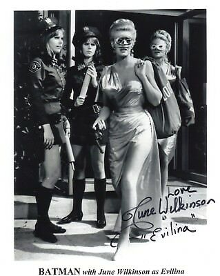 June Wilkinson signed 8x10 Batman photo / autograph Evilina