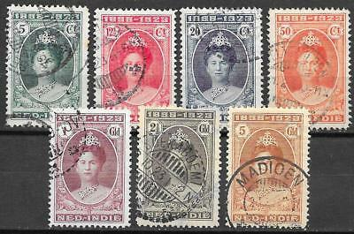 Netherlands Indies stamps 1923 NVPH 160-166 CANC VF CAT VALUE $290