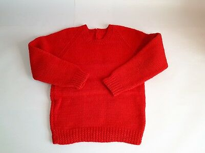 """Vintage 1960s Hand-Made/ Knitted Girls Jumper (4-y-o). Ch: 20""""/ 51cms. Costume"""