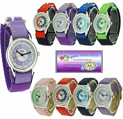 Relda Time Teacher Watch Easy Fasten Boy Girl Childrens xmas Gift For kids