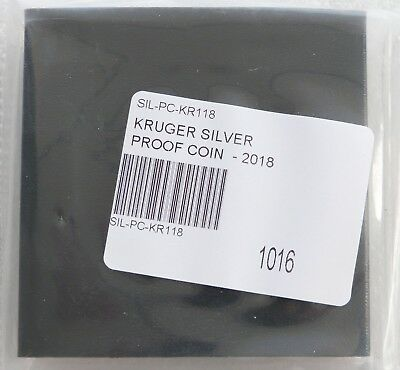 2018 South Africa Krugerrand Silver Proof 1oz Coin Box Coa - Mintage 15,000