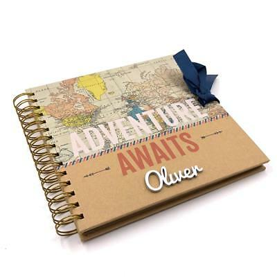Personalised Adventures Travel Holiday Scrapbook Photo Album 622250