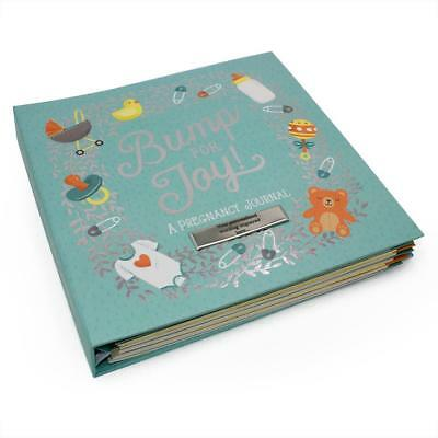 Personalised Bump for Joy Baby Keepsake Journal Record Book 86403-P