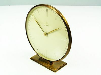 Beautiful Art Deco Bauhaus  Brass Desk Clock  Junghans Germany
