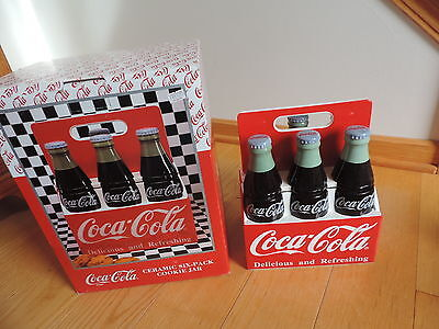 Coca Cola Cookie Jar Six Pack Bottles Ceramic Collectible COKE Bottle w/ Box