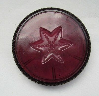 Degenhart Glass  Beaded And Star Coasters  (Amethyst)