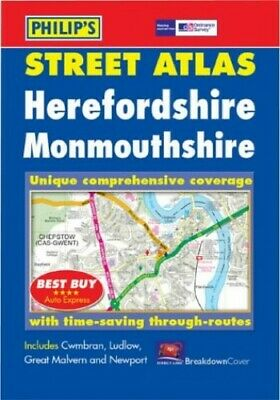 Philip's Street Atlas Herefordshire and Monmouthshire: Pocket Paperback Book The