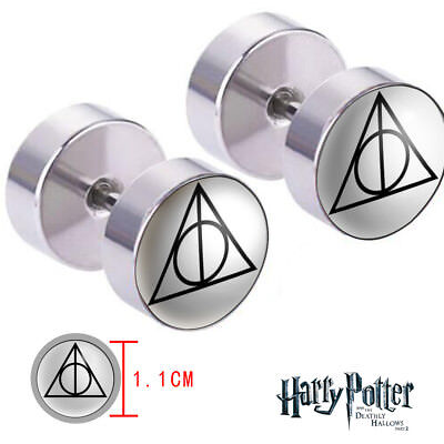 Harry Potter Deathly Hallows Logo Earring Ohrring Ohrstecker  2PCS