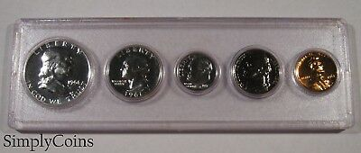 1961 Proof Set ~ GEM Uncirculated ~ 90% Silver US Coin Lot