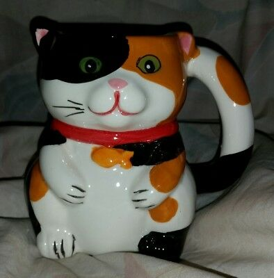 Pier 1 Imports Ceramic Cat Mouse Surprise Mug Coffee Cup NWT