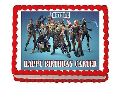 FORTNITE PARTY EDIBLE cake topper frosting sheet* - £6.03 ...
