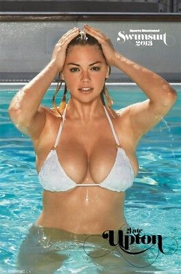 SPORTS ILLUSTRATED ~ KATE UPTON POOL 22x34 PINUP POSTER Swimsuit Bikini