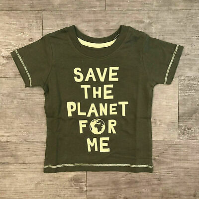 NEW Baby Toddler Boy Slogan Short Sleeve T-Shirt Top Age 0 to 3 Kids