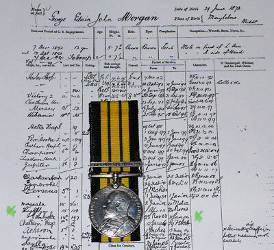 AFRICA GSM SOMALILAND 1902-04 CLASP TO RN SBS HMS HIGHFLYER - Later RM Captain