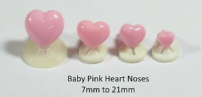 BABY PINK HEART NOSES - COLOURFUL Animal Safety Nose for Soft Toys & Teddy Bears