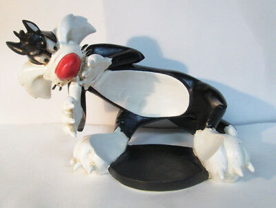 Vtg Looney Tunes Sylvester Cat Fish Bowl Holder Figure Statue Acme Pet Shop 1994