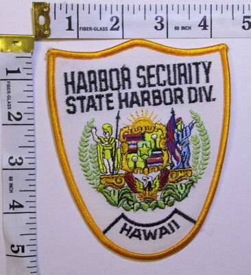 Hawaii Harbor Security State Harbor Division Shoulder Patch