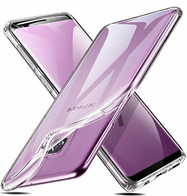 For Samsung Galaxy S6 S8 S9 Case Ultra Clear Transparent Slim Silicone Gel Cover