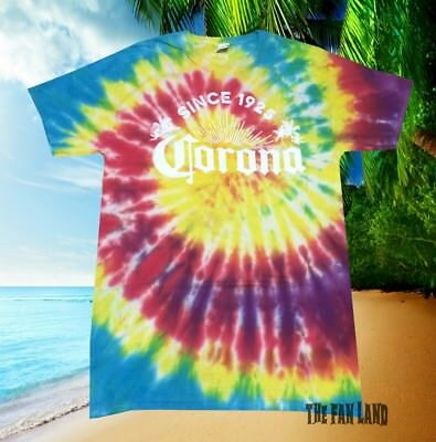 New Corona Extra Brewing Beer Tie Dye Vintage Mens T-Shirt