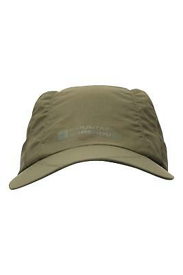 Mountain Warehouse IsoDry Mens Mesh Cap in Khaki w/Adjustable Strap in One Size